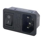 connecteur C14 interrupteur fusible