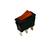 interrupteur rectangulaire 11x30mm lumineux orange