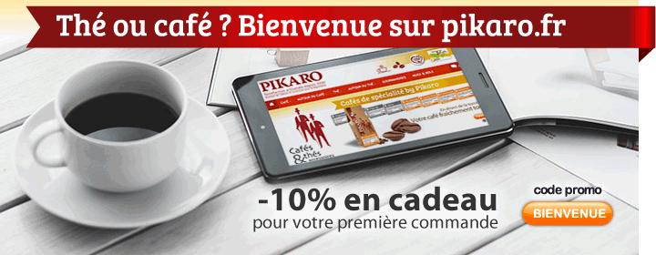 Bienvenue sur pikaro.fr ! Spécialité de Thés exclusifs, café en grain ou moulu, fraîchement torréfié directement de la torréfaction pikaro... Avec -10% en cadeau pour votre première commande.