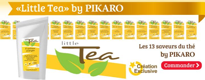Little Tea : la gamme de thés en création exclusive by Pikaro. Tous les plaisirs des thés préparés et élaborés exclusivement pour les connaisseurs et grands amateurs que vous êtes.