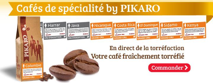 Cafés de spécialité by PIKARO. En direct de la torréfaction, votre café en grains fraîchement torréfié.