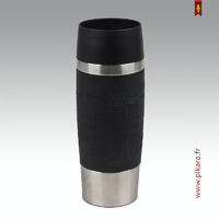 Mug travel isotherme noir