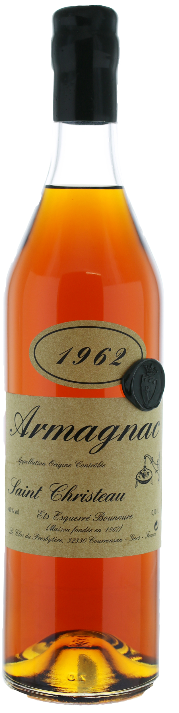 ARMAGNAC - 1962 - Saint-Christeau - 40° - G. Miclo