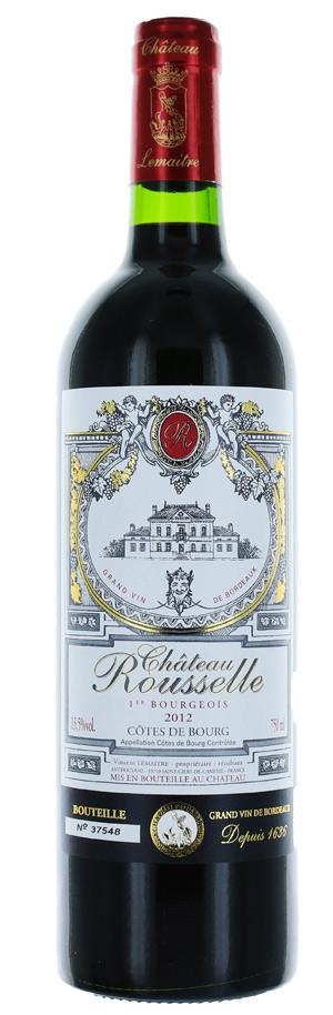 Côtes de Bourg - Château Rousselle - Vignobles Lemaitre - 2017