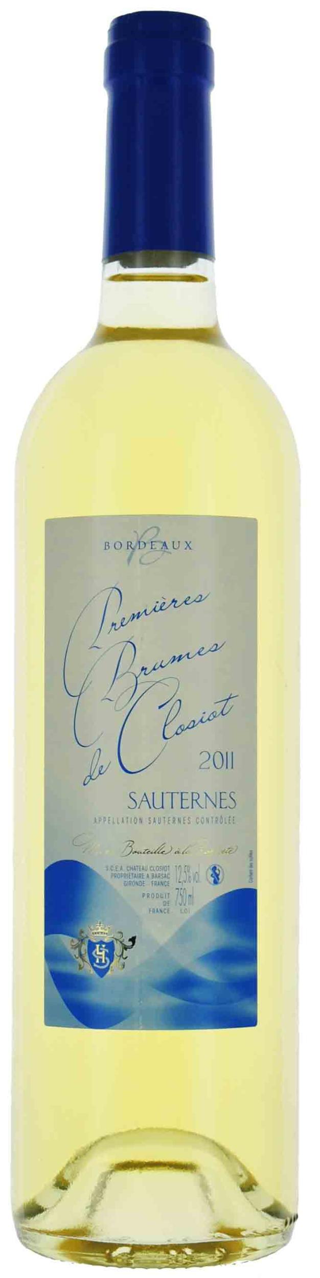 Sauternes - Premieres Brumes de Closiot - Château Closiot - 2016