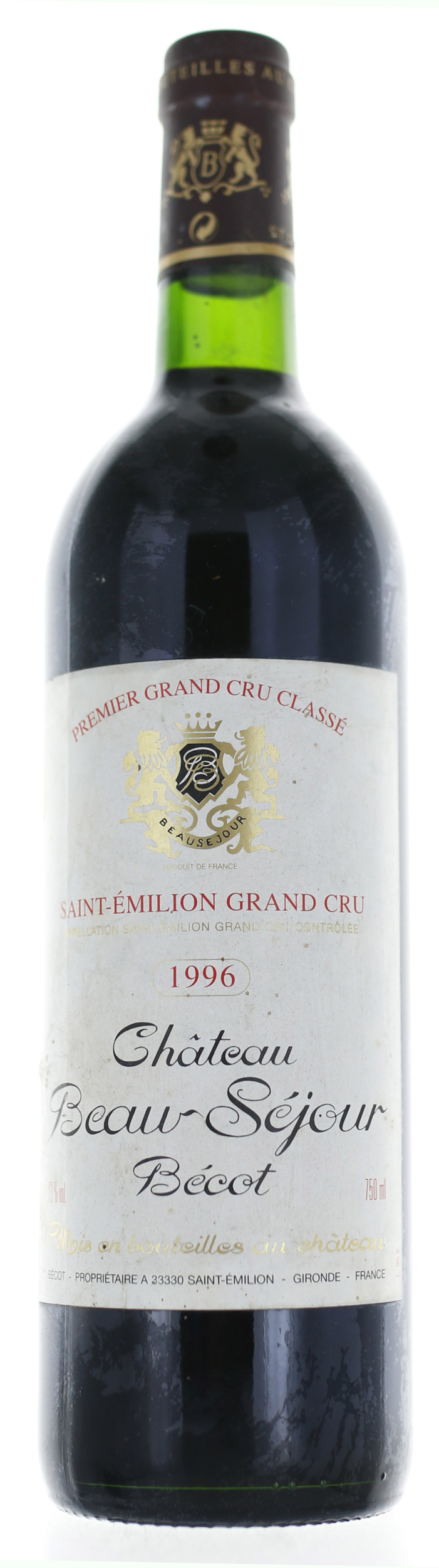 Saint Emilion - Château Beau Séjour Bécot - 1996