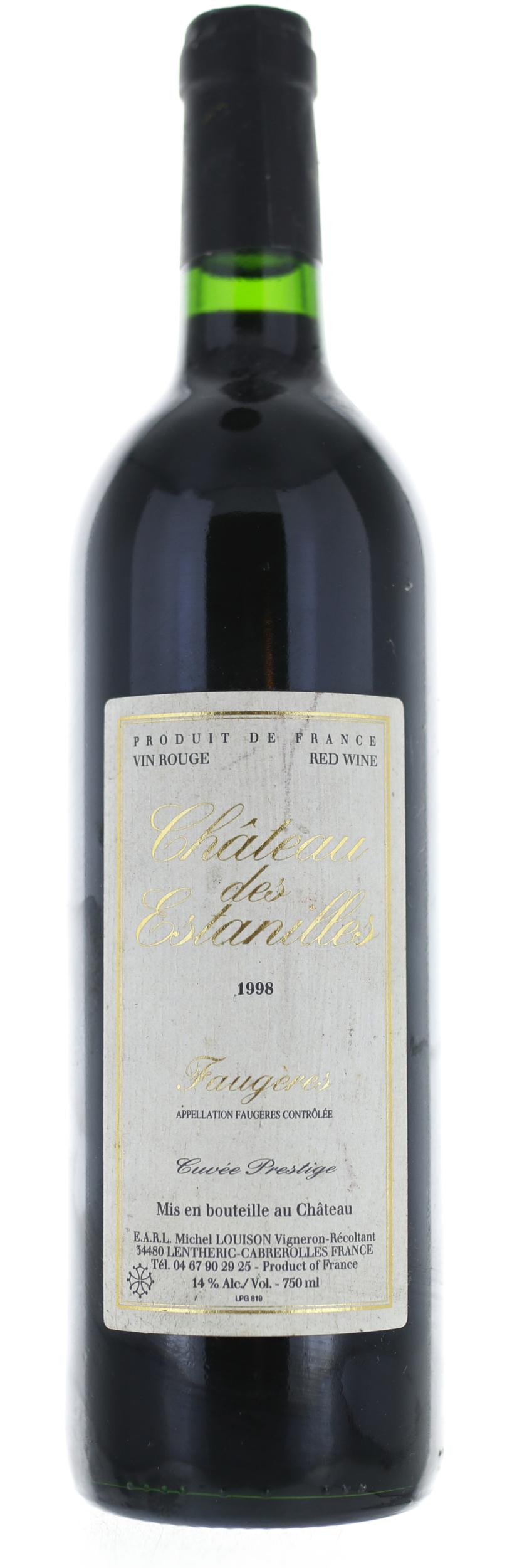 Faugeres - Château des Estanilles - Cuvée Prestige - 1998
