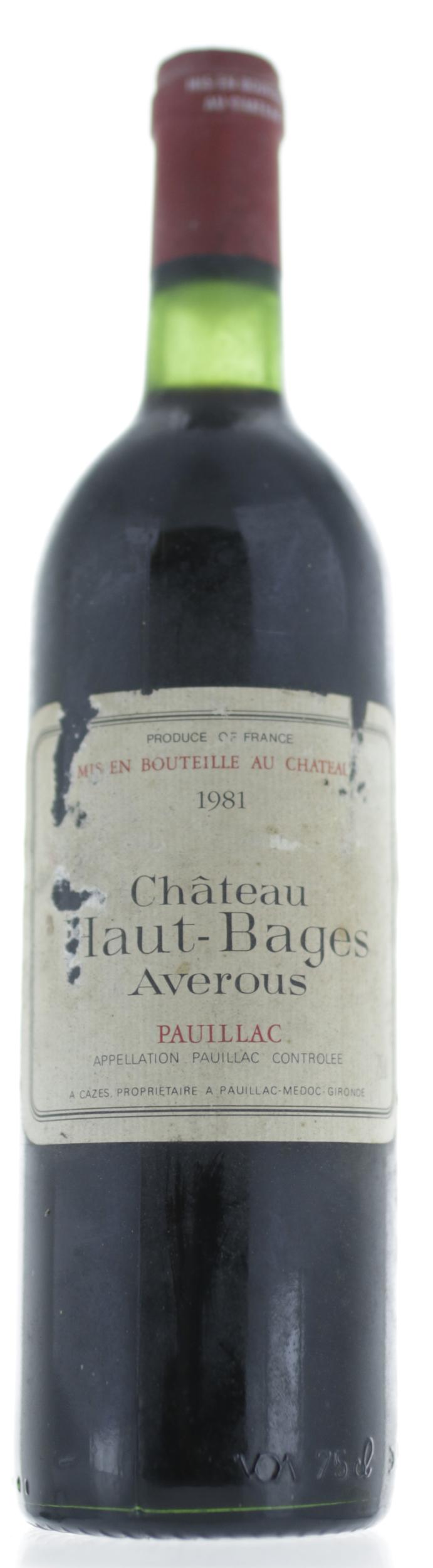Pauillac - Haut Bages Averous - 1981
