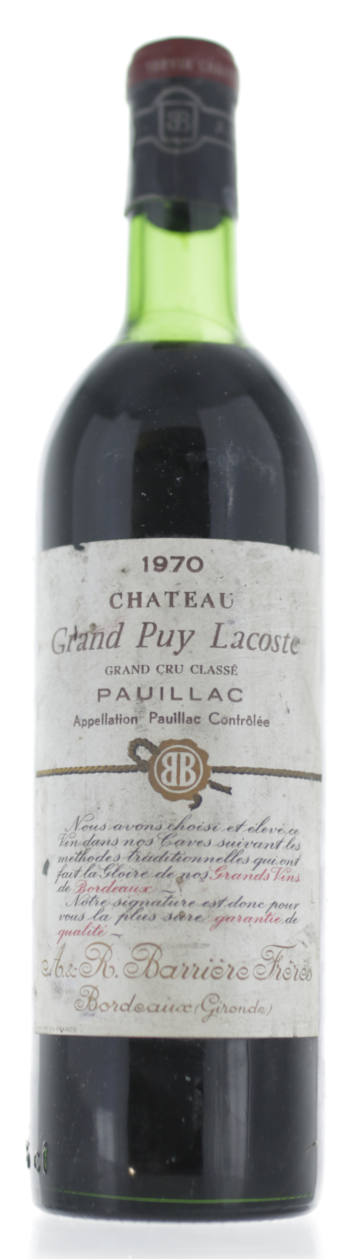 Pauillac - Grand Puy Lacoste - 1970