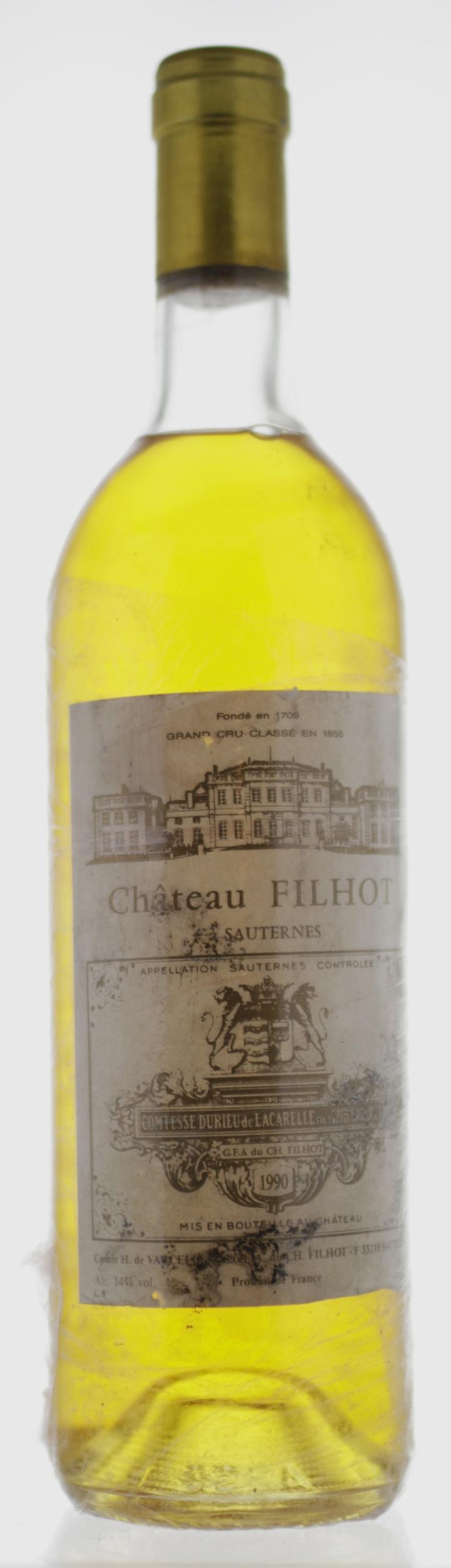 Sauternes - Château Filhot - 1990