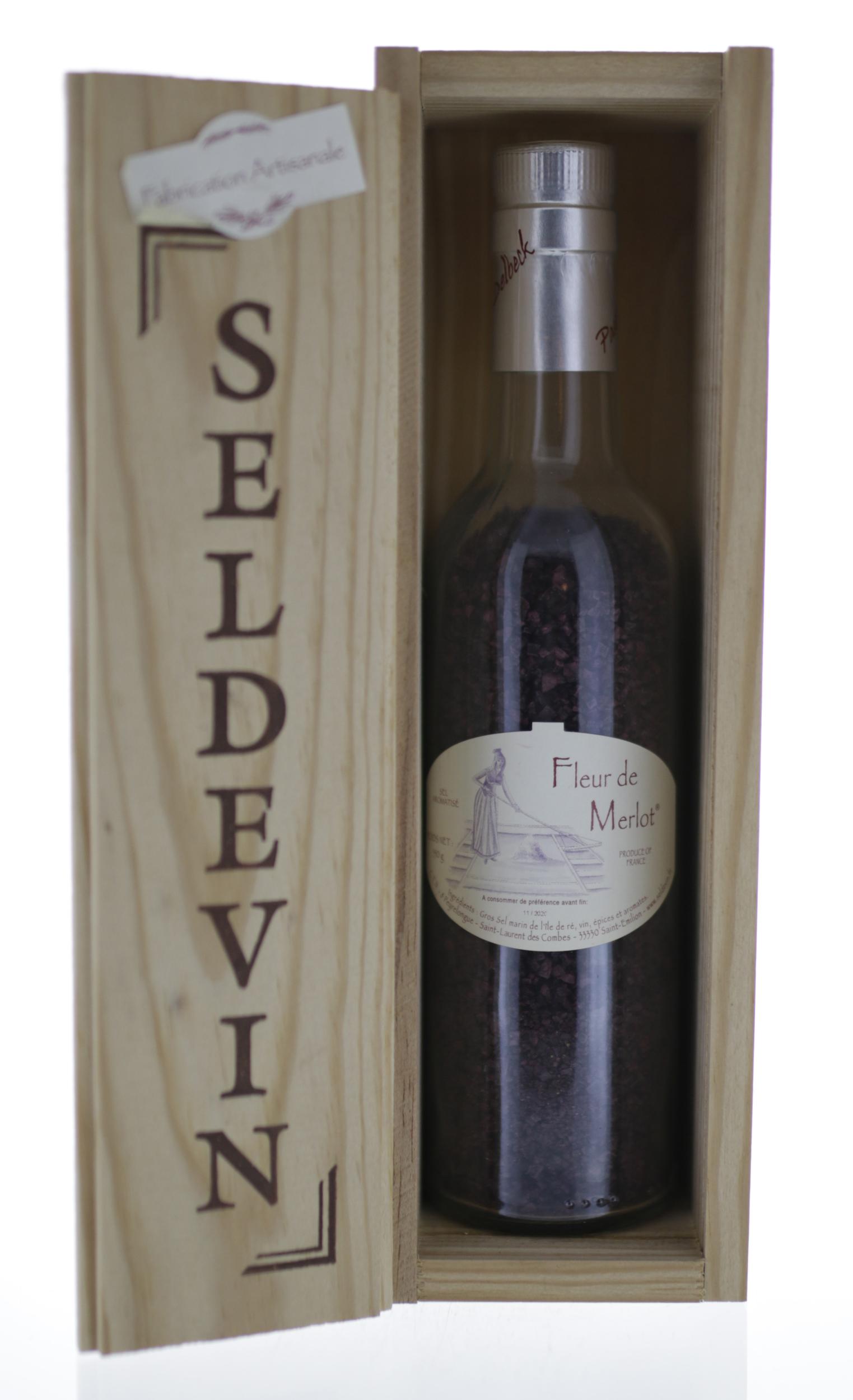 Sel de Vin - Fleur de Merlot - Coffret Bois