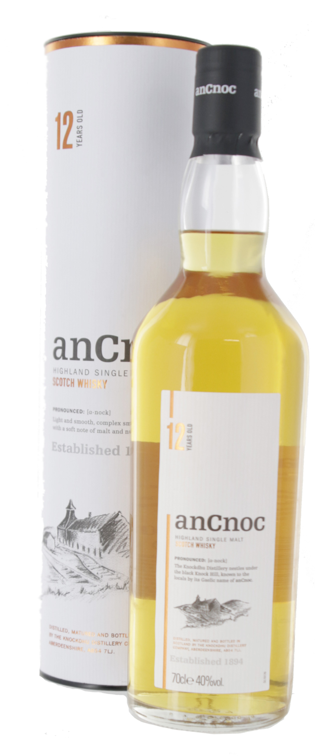 Ancnoc 12 ans - Ecosse Highlands - Single Malt - Non tourbé - 70cl - 40°