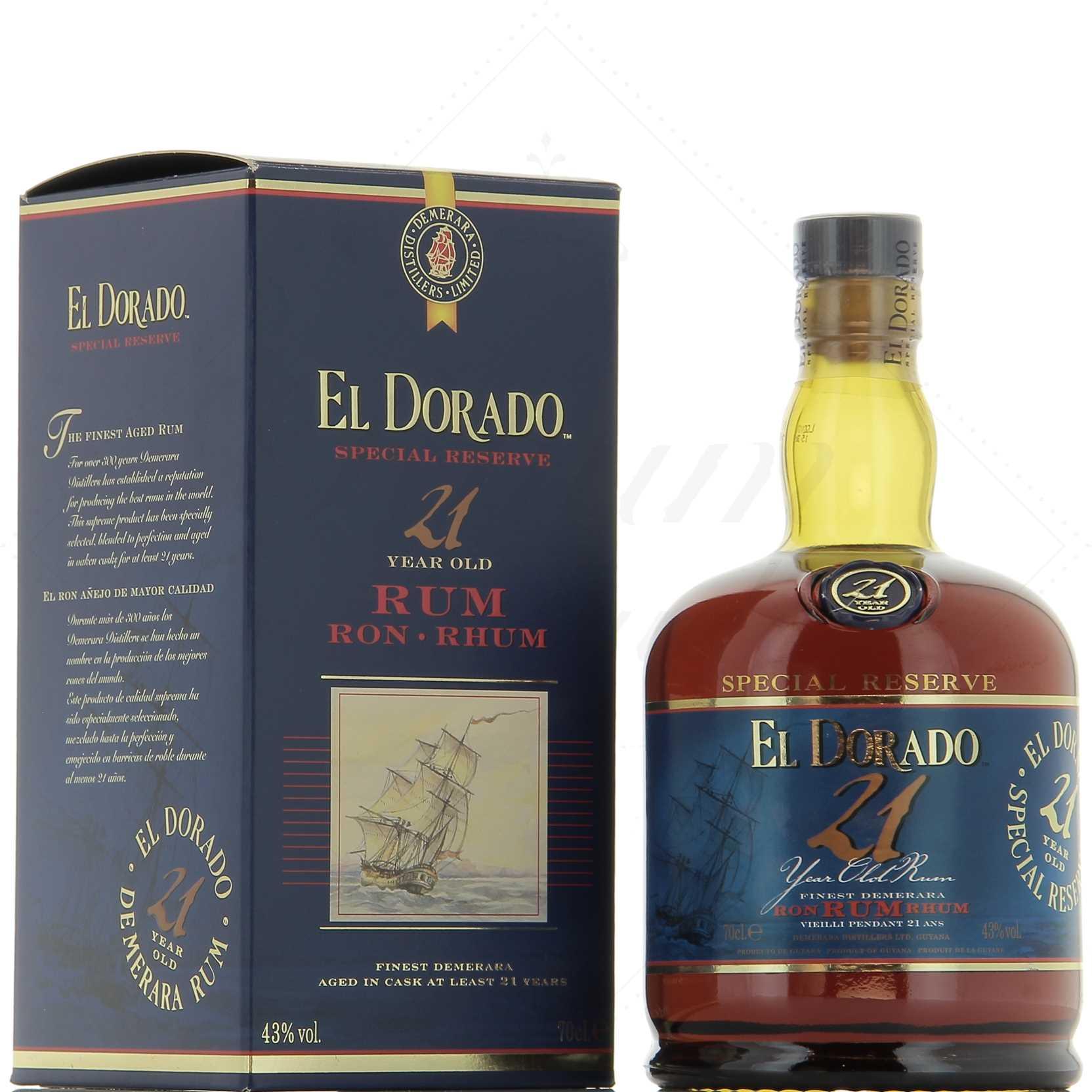 El Dorado 21 ans - Guyane Anglaise - 70cl - 43°