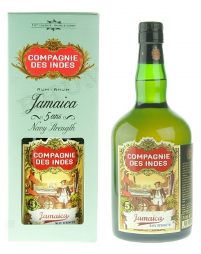 Compagnie des Indes Jamaica Navy Strength 5 ans - Jamaique - 70cl - 57°