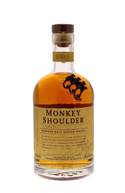 Monkey Shoulder - Ecosse - Single Malt - Non Tourbé - 70cl - 40°