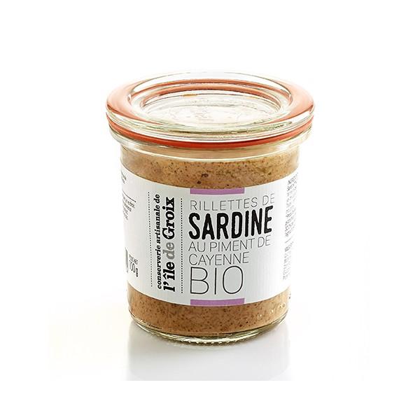 Rillettes de sardine au piment de Cayenne BIO - Groix & Nature