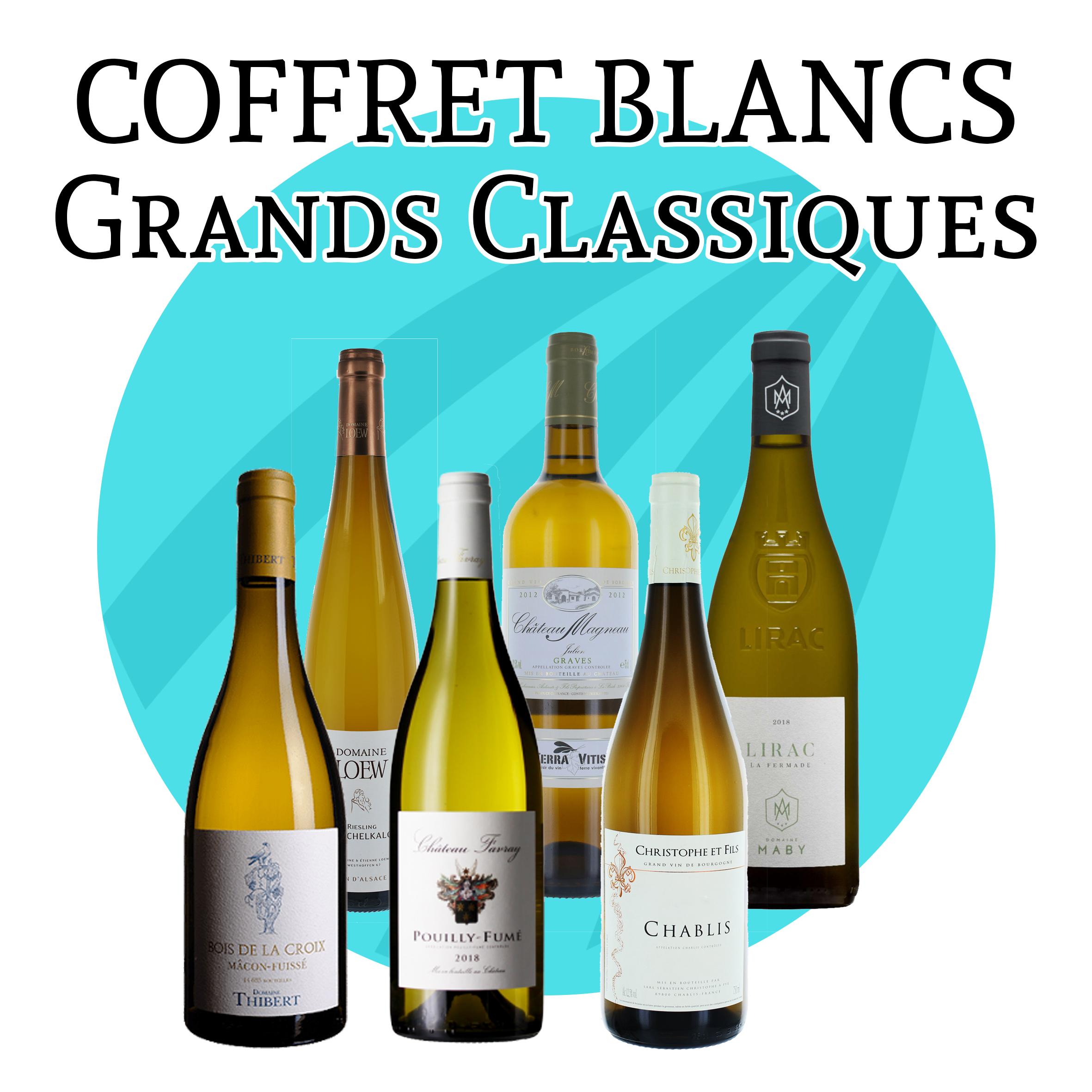 Coffret Vins Blancs Grands Classiques