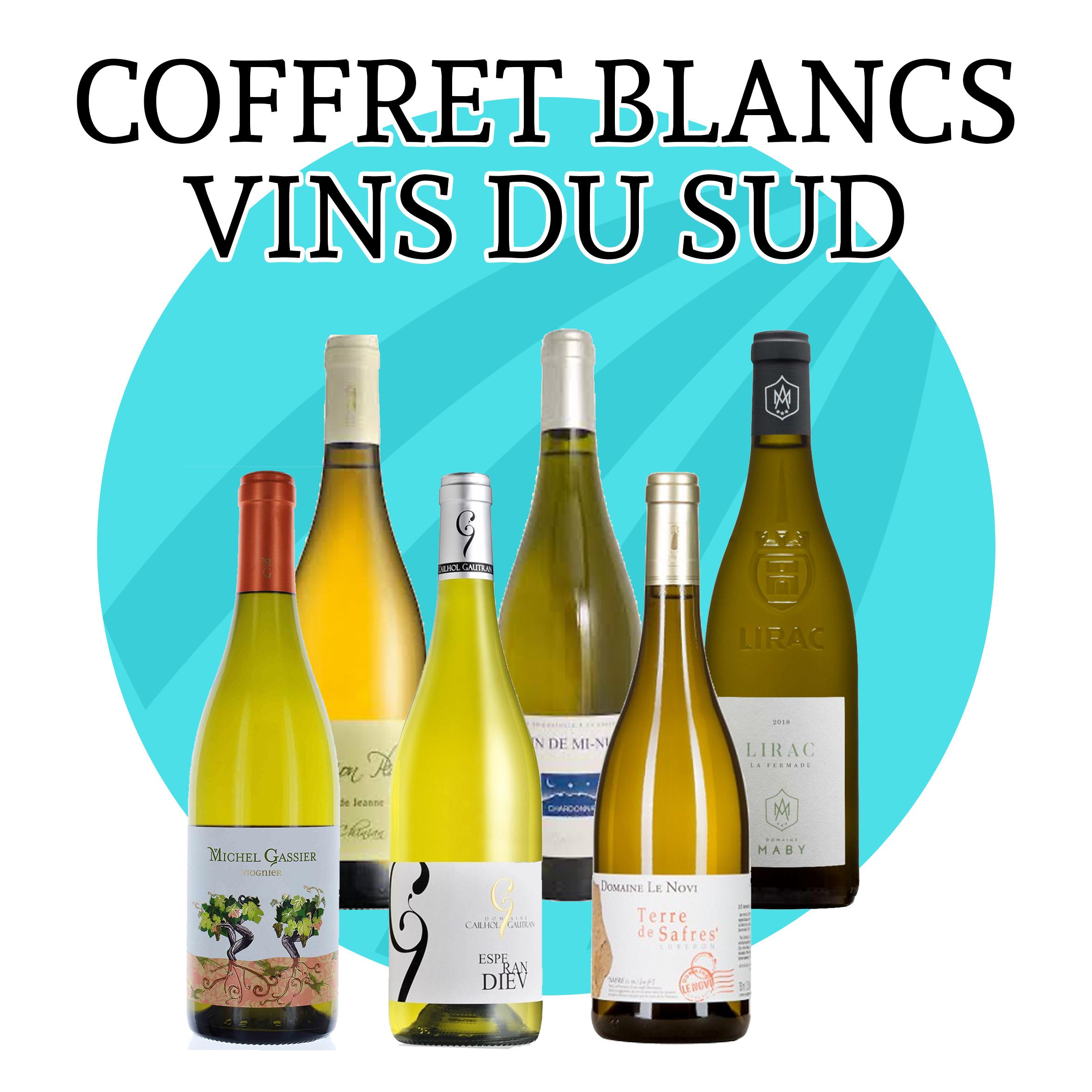 Coffret Vins Blancs du Sud - 6 bouteilles