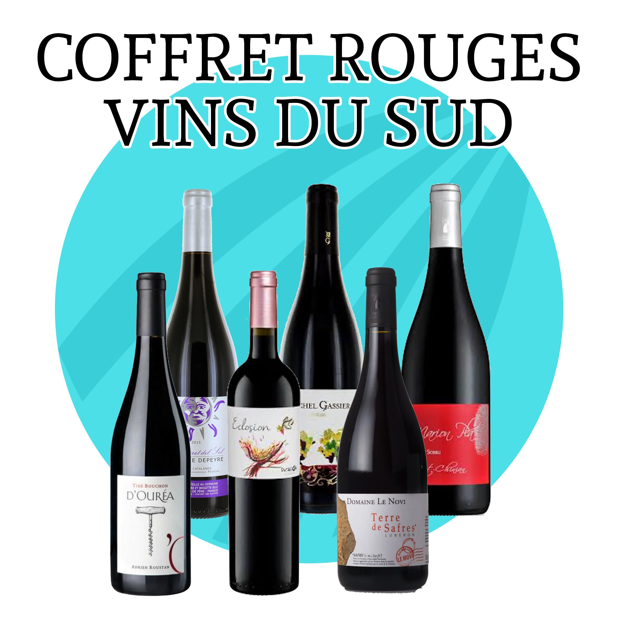 Coffret Vins Rouge du Sud - 6 bouteilles