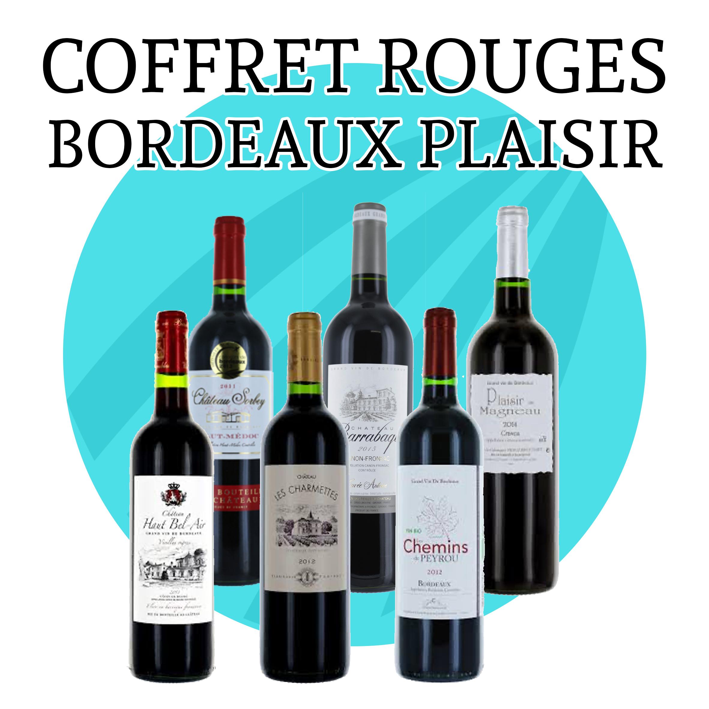 Coffret Bordeaux Plaisir - 6 bouteilles