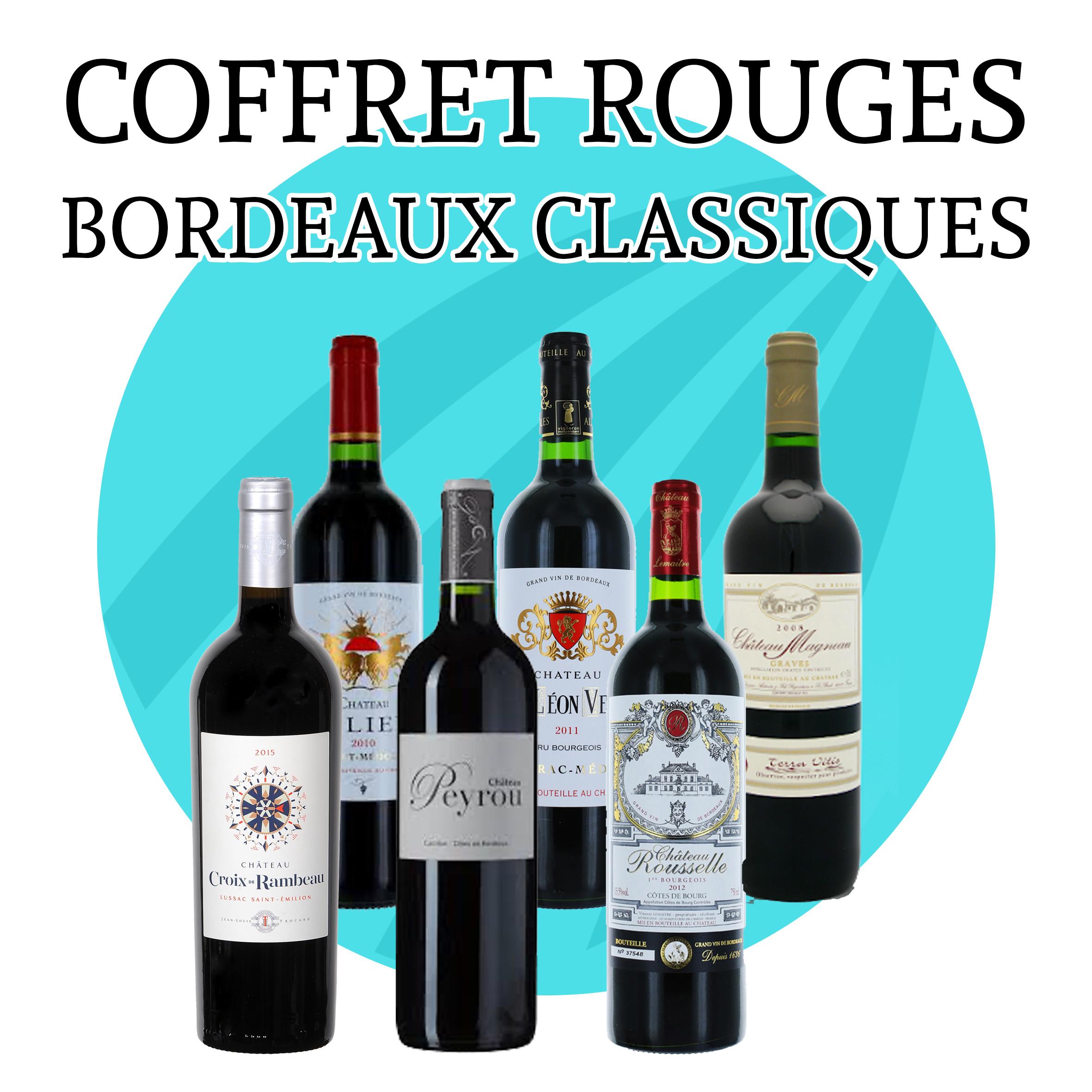 Coffret Bordeaux Classiques - 6 bouteilles