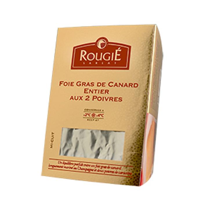 Foie Gras de Canard entier aux deux Poivres et Champagne - 500gr - Rougié