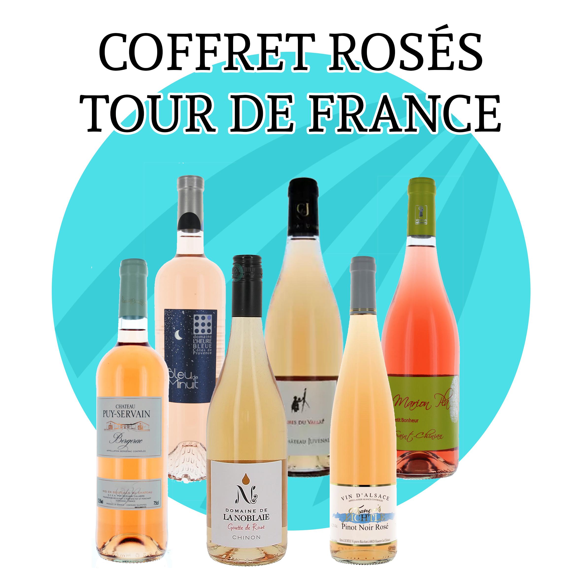 Coffret Rosé Tour de France - 6 bouteilles