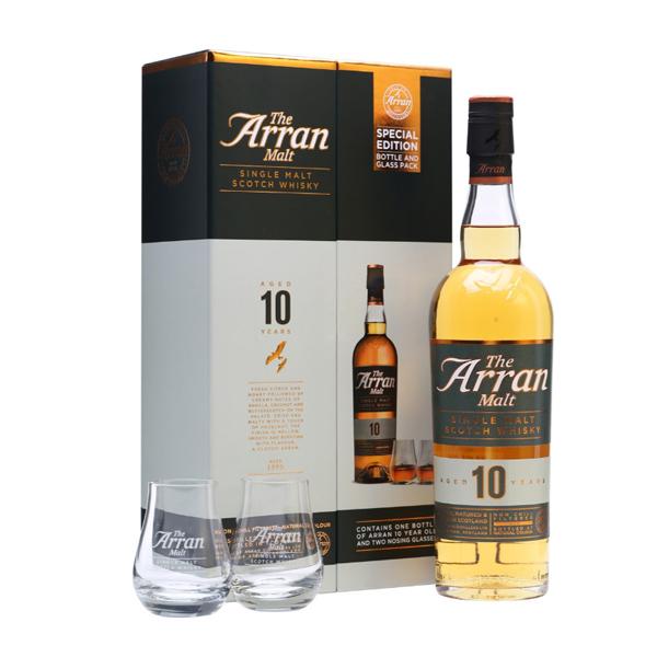 Coffret Whisky - The Arrant Malt 10ans 46%  + 2 verres