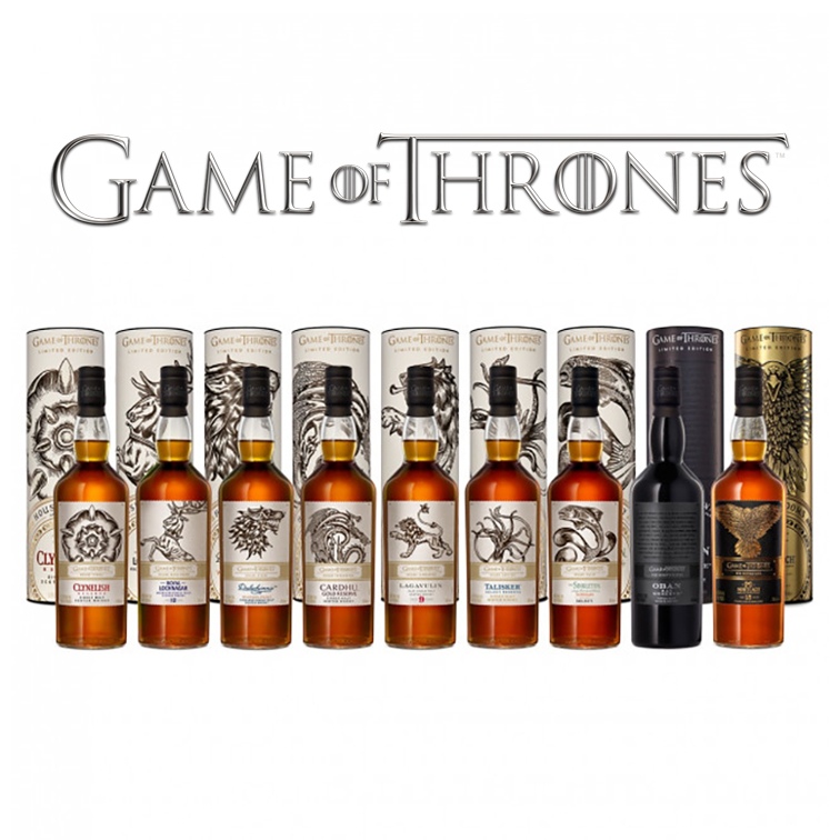 Collection de Single Malts Game of Thrones (9 bouteilles)