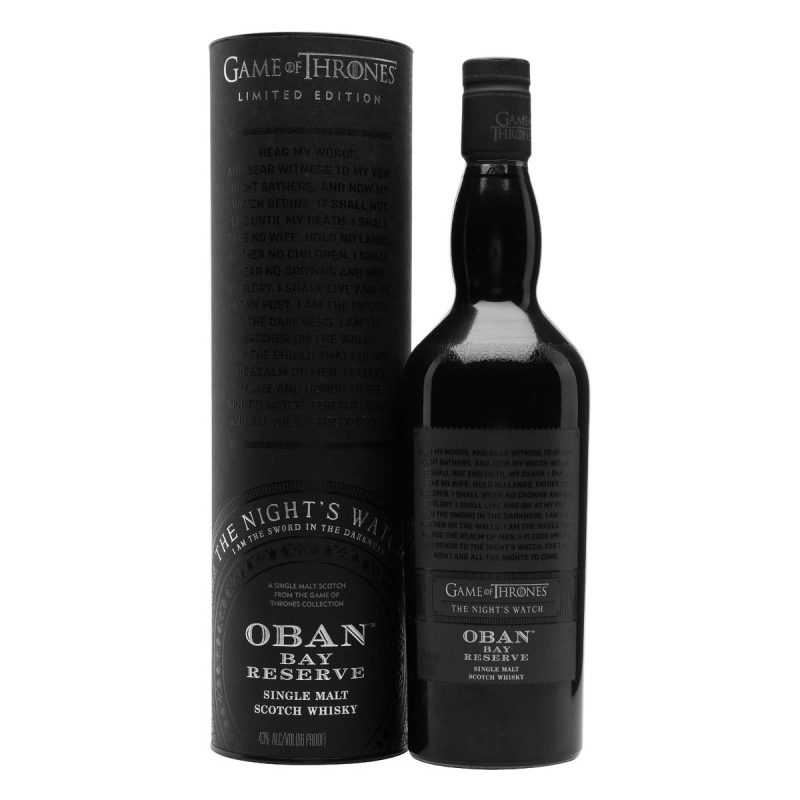 Oban Bay Reserve The Night\'s Watch 43° - Game of Thrones