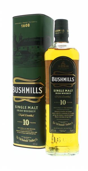 Bushmills 10 Y - Irlande - Single Malt - Non Tourbé - 0,7l - 40°
