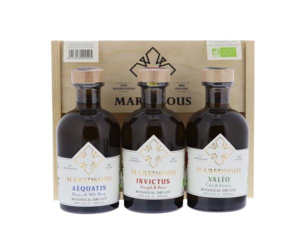 Gin - Maredsous - Coffret 3x20cl - 40°- Bio