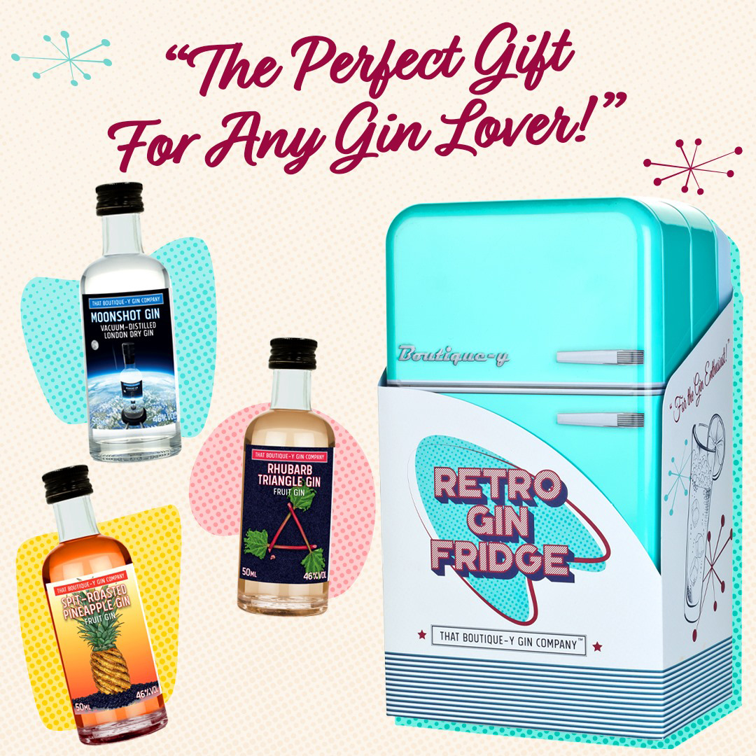 That Boutique Y Gin Company - Retro Gin Fridge - 46° 8x5cl