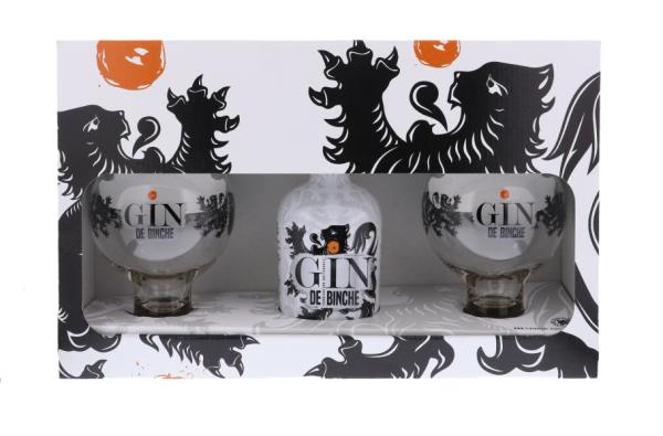 Gin - Coffret Gin de Binche + 2 verres - Belgique - 70cl - 40°