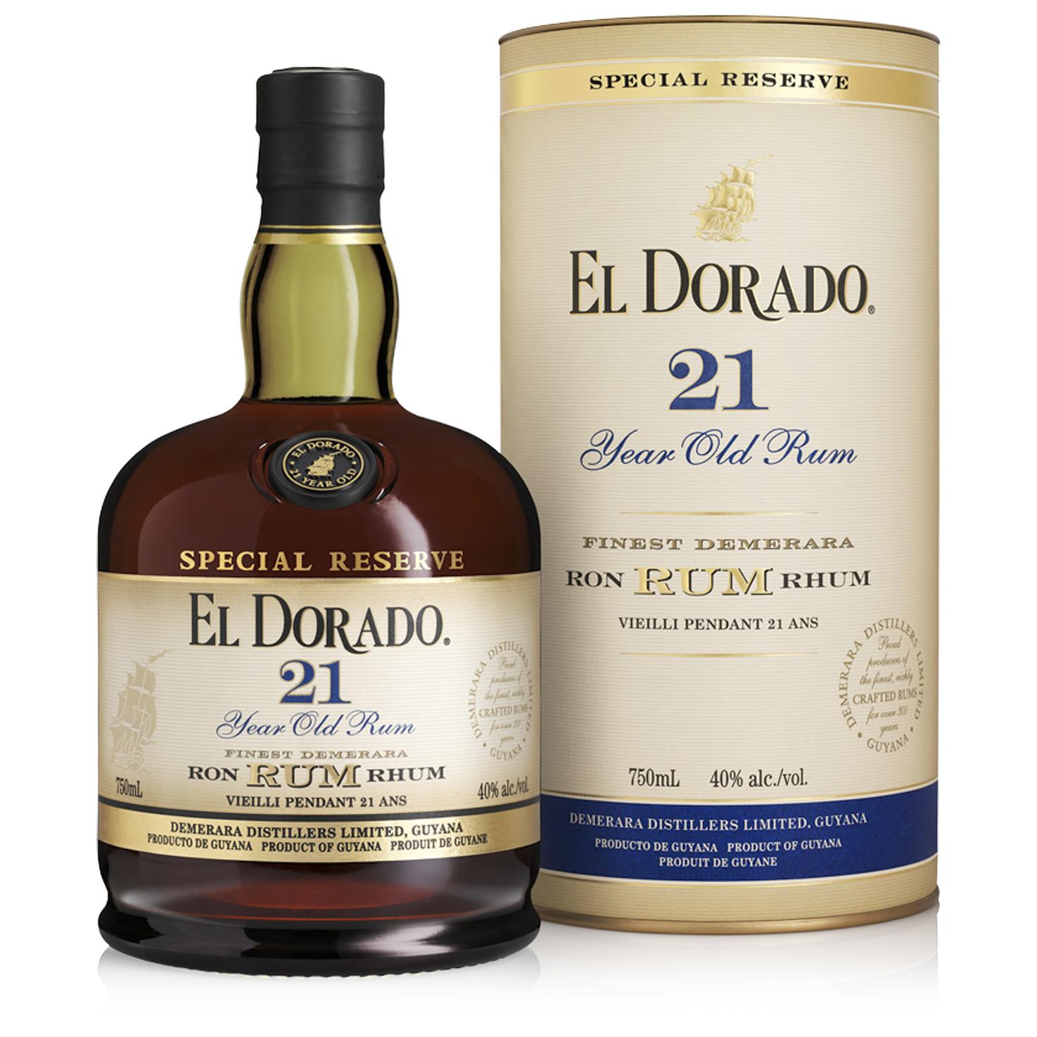 Rhum - El Dorado 21 ans - Guyane Anglaise - 70cl - 43°