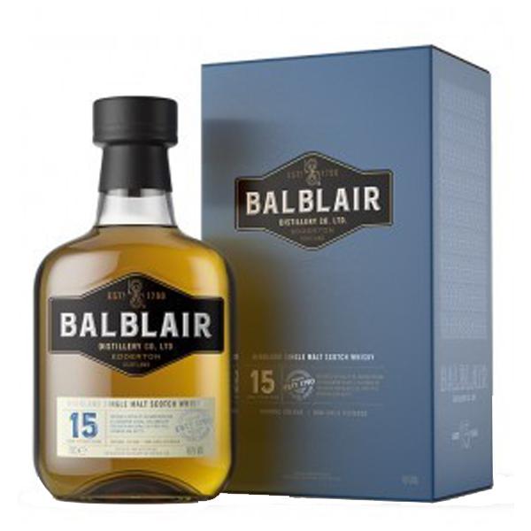 Balblair 15 ans - Ecosse - Single Malt - Non Tourbé - 70cl - 46°