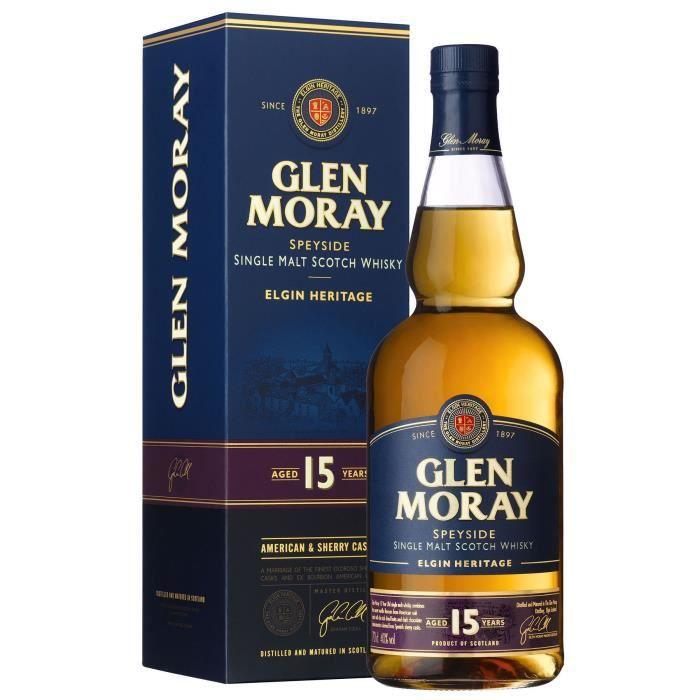 Glen Moray - 15 Ans - Whisky Single Malt - Ecosse - 40°
