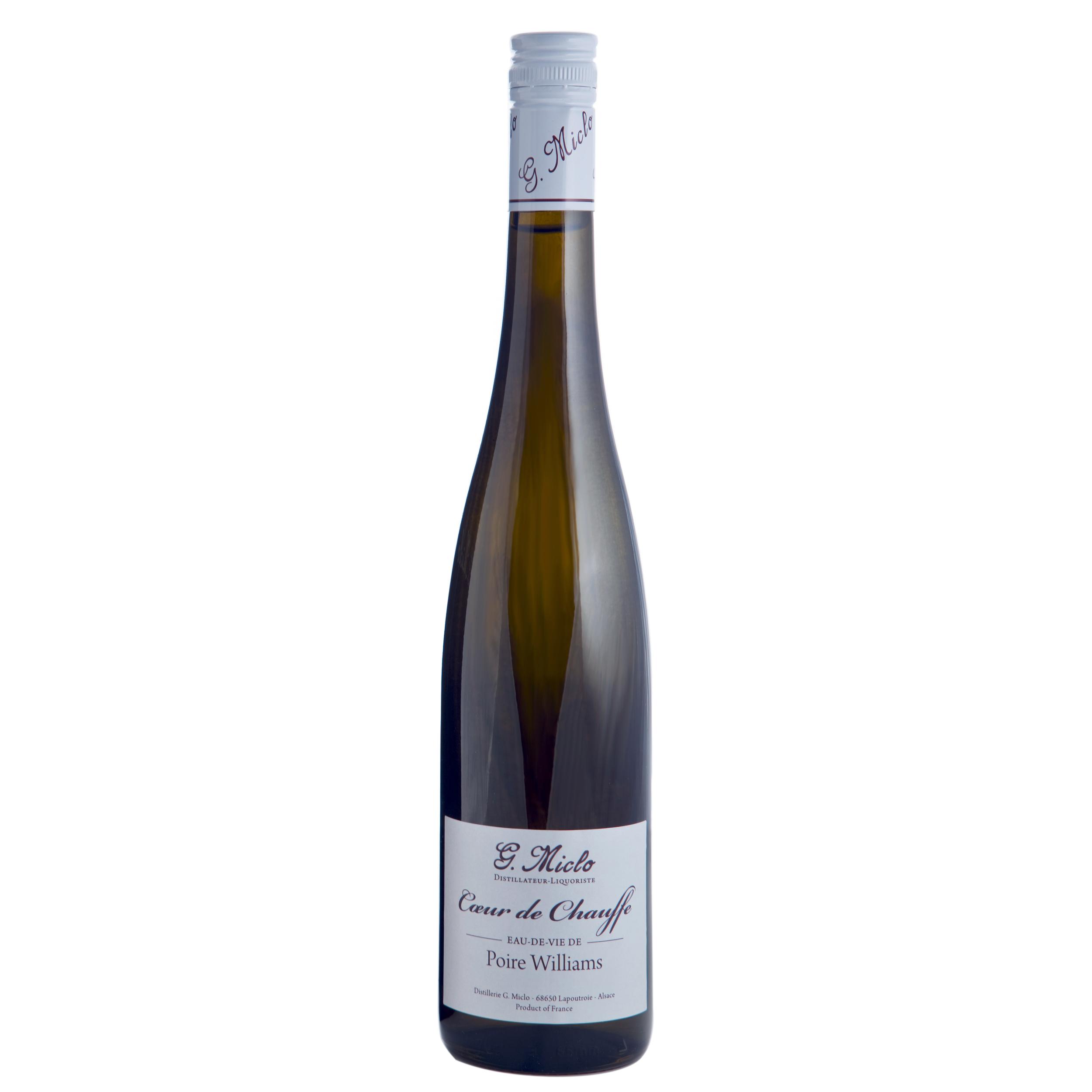 Eau de vie - Poire William - Coeur de Chauffe - Distillerie G. Miclo - 45° - 70cl