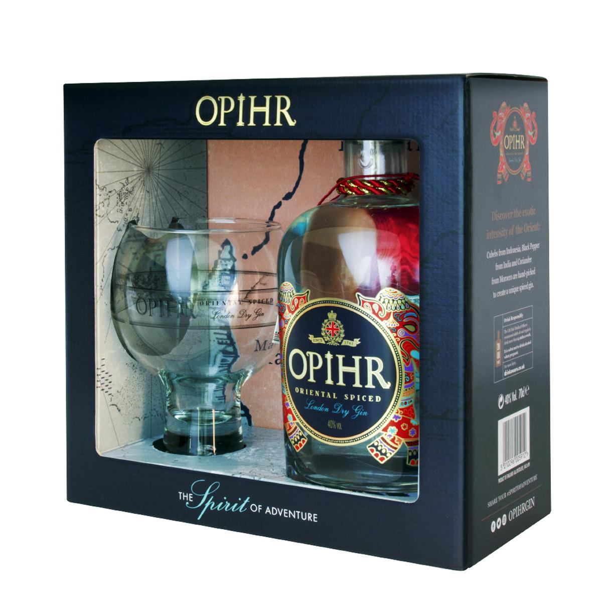 Gin - Coffret Opirh - Oriental Spiced  + Verre ballon - Royaume-Uni - 40° - 70cl
