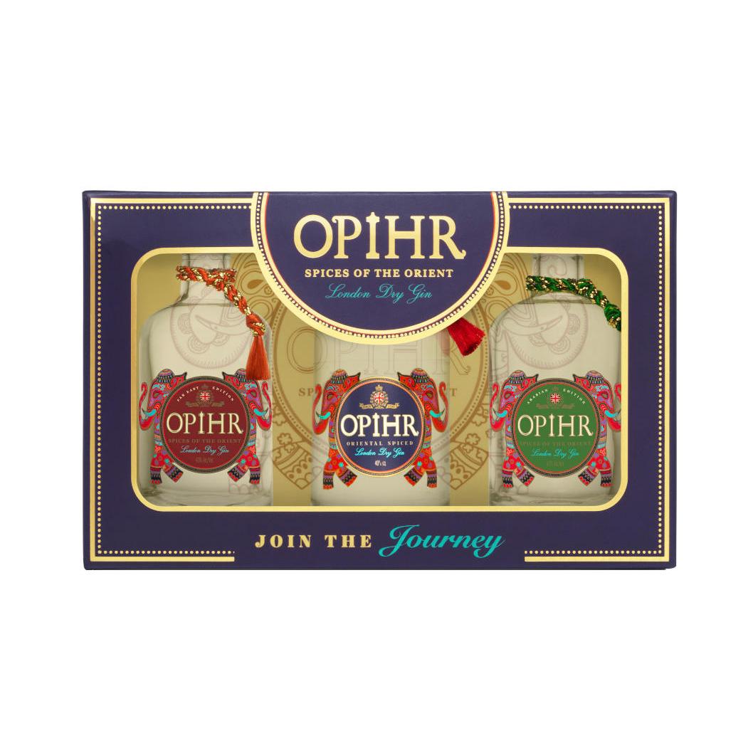Gin - Coffret 3x5cl Opirh  - Royaume-Uni - 43° - 70cl