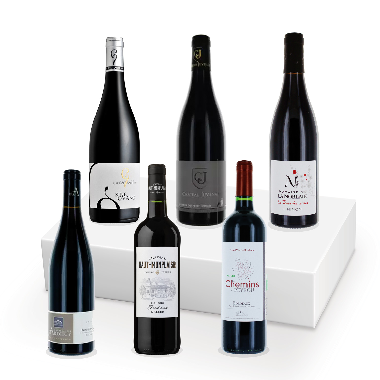 Coffret découverte - 100% BIO - Vins rouges - 6 bouteilles
