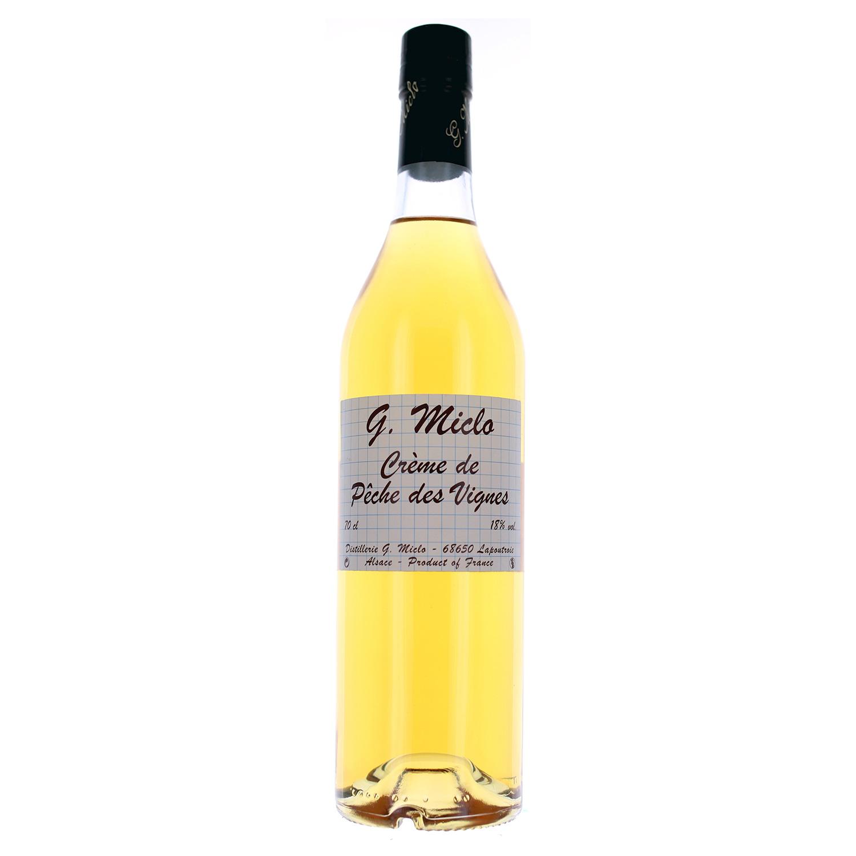 Crème de pêche des Vignes - 18° - 70cl - G. Miclo
