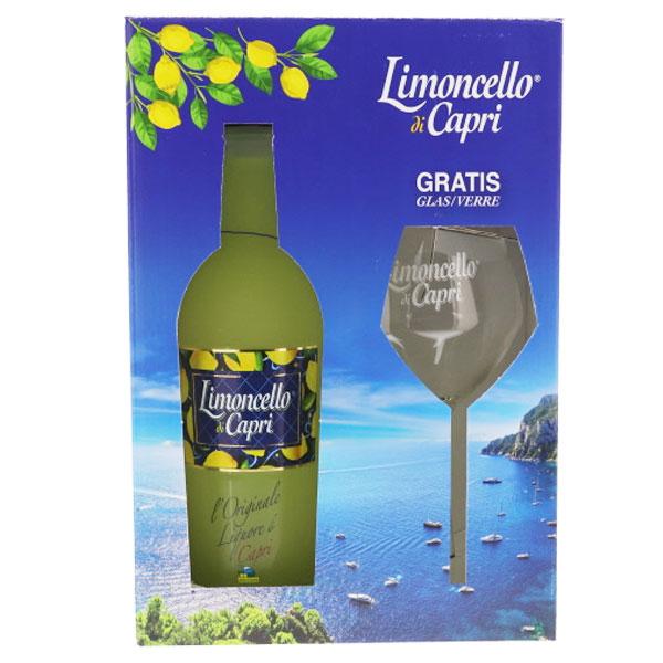 Liqueur - Coffret Limoncello Di Capri + Verre - 70 cl - 30°