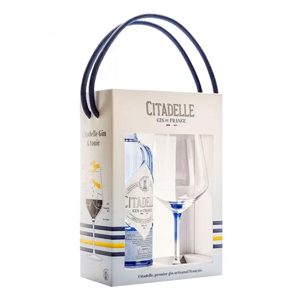 Gin - Coffret Gin Citadelle + Verre - 44° - 70cl
