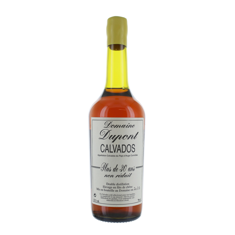 Calvados Plus de 30 ans non réduit  - A.O.C. Calvados du Pays d\'Auge - 52°
