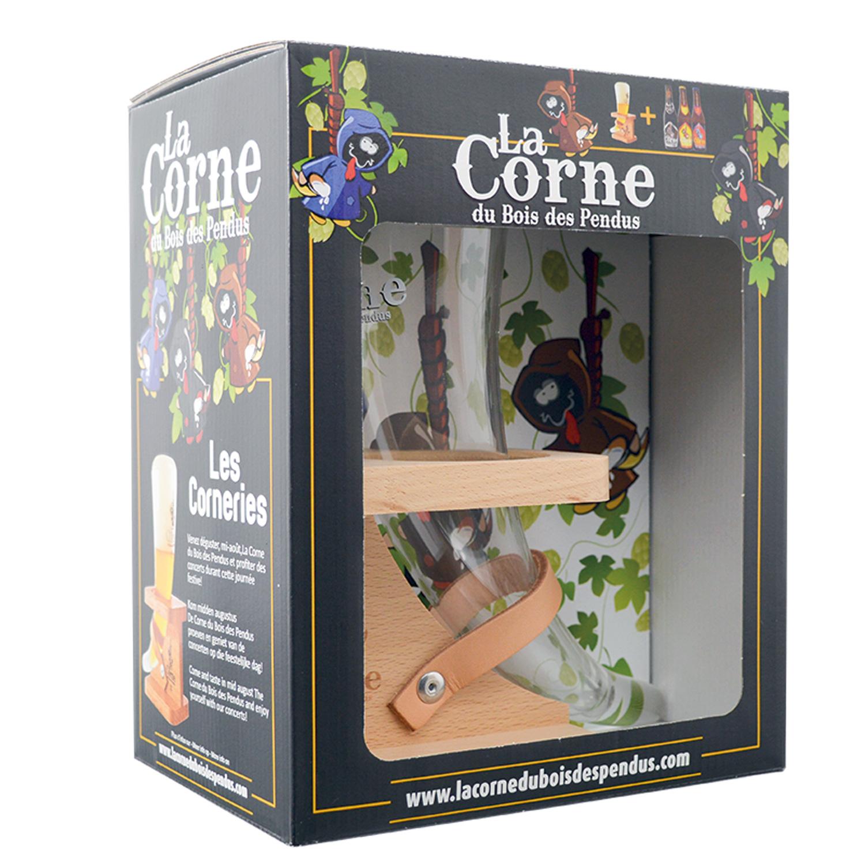Coffret - La Corne du Bois des Pendus - 3x33cl + Verre Corne
