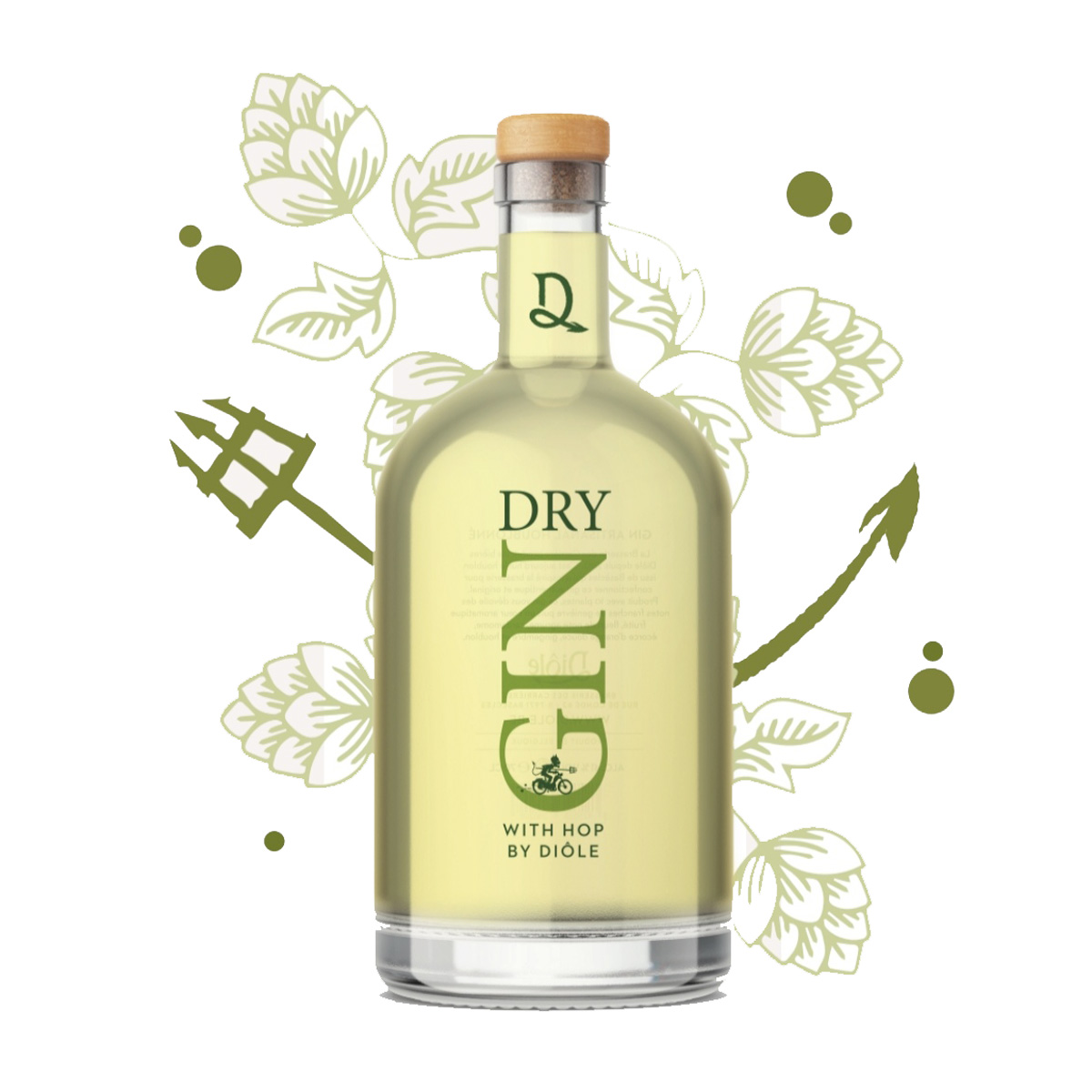 Gin - Dry Gin with hop by Diôle - 40° - 70cl