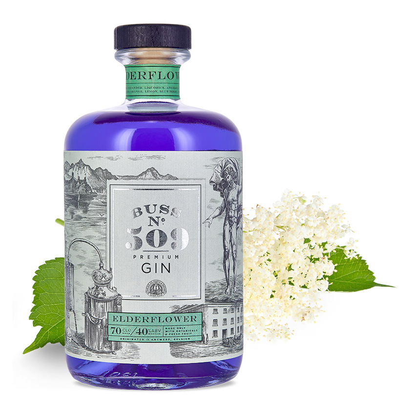 Gin - Buss n°509 Elderflower - Belgique - 70cl - 40°