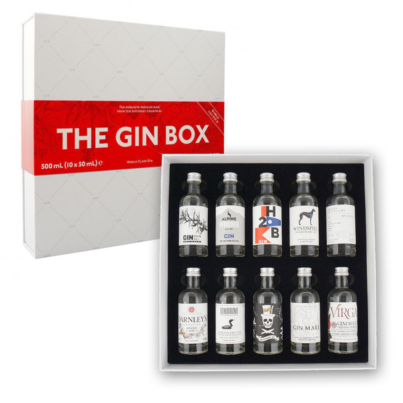 Gin - Coffret The Gin Box - World Tour Edition - Coffret Découverte Gin N°2