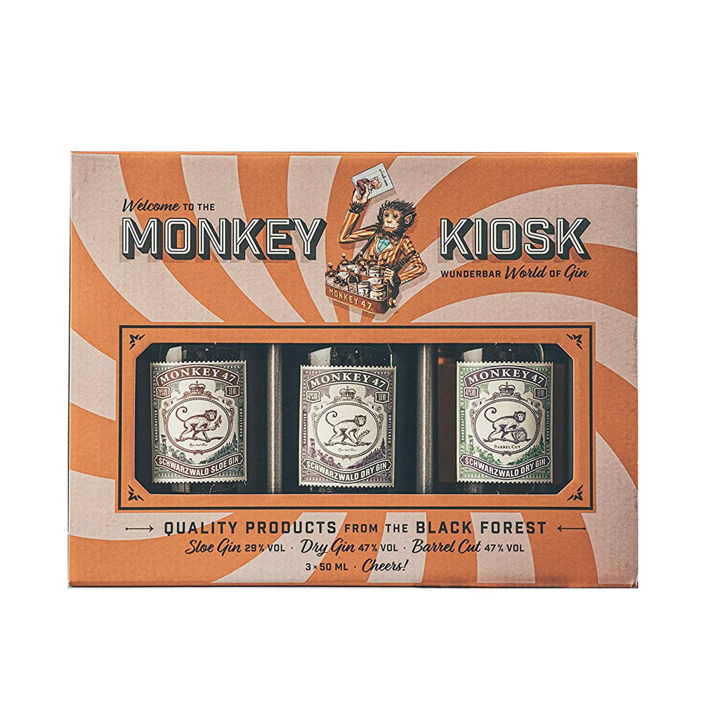 Coffret Gin - Monkey 47 Gin Kiosk - 3 x 50 ml